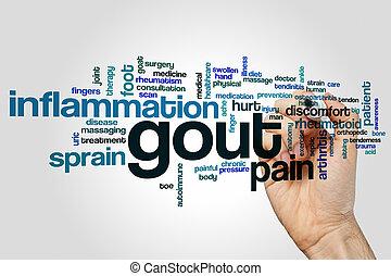 Gout word cloud concept