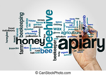 Apiary word cloud concept