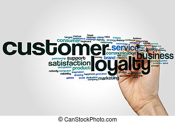 Customer loyalty word cloud concept