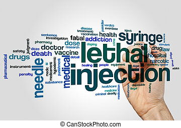 Lethal injection word cloud concept