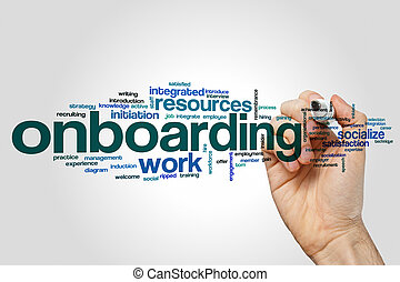 Onboarding word cloud concept - Onboarding word cloud