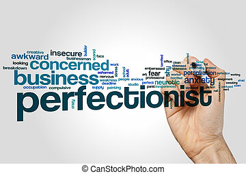 Perfectionist word cloud concept
