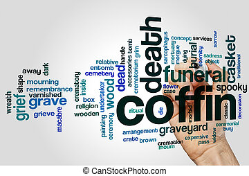 Coffin word cloud concept