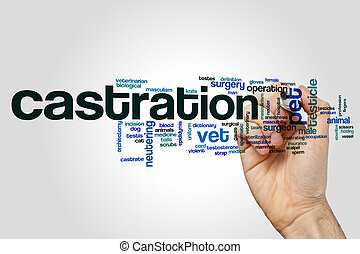 Castration word cloud concept