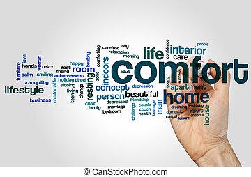 Comfort word cloud
