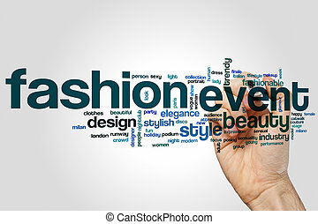 Fashion event word cloud concept