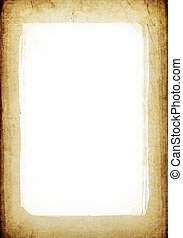 Vintage frame background with isolated center (copyspace)