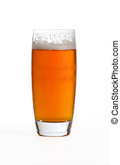 India Pale Ale - India pale ale in glass on white...