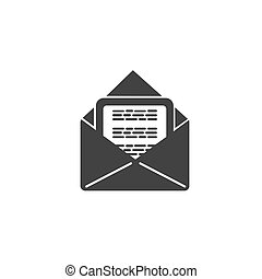 envelope with mail, email, icon, vector illustration