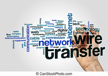 Wire transfer word cloud concept