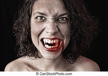 portrait of a vampire - portrait of a female vampire
