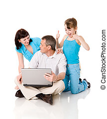 Online shopping - Family together making Online shopping...