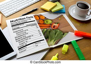 nutrição, conceito, estilo vida, gluten, alimento, doença,...