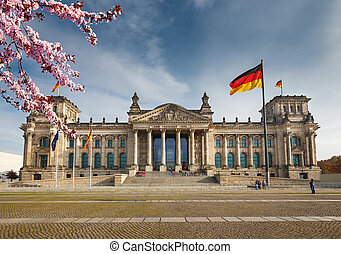 Reichstag in Berlin - View on Reichstag in Berlin, Germany