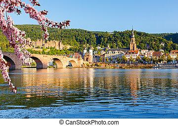 Heidelberg at spring - View on Heidelberg at spring, Germany