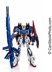 Gundam plastic model. - Gundam model scale 1:100 produced by...