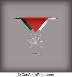 Oman sign - The combination of colors of the national flag...