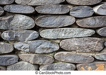 Closeup of stone wall use for construction business and...