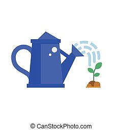 Blue Watering Can and Sprout - Blue watering can sprays...