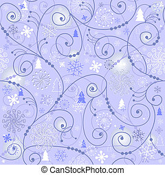 Blue-white christmas seamless pattern - Blue christmas...