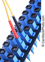 Fiber optical network cable with optical distribution frame