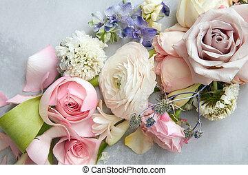 Bridal beautiful bouquet - Bridal bouquet. Nice nosegay with...
