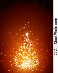 Christmas background - Vertical red background with...