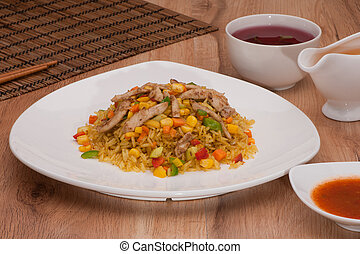 rice dish in a bowl