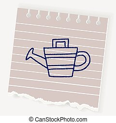 doodle watering can