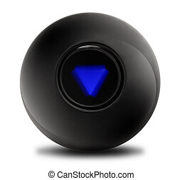 Magic Ball Outlook not so good - Black Magic Ball with...