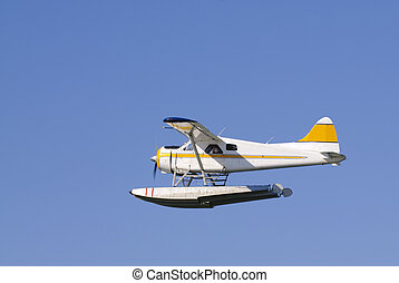 Seaplane in Canada - Seaplane taking off from Vancouver...