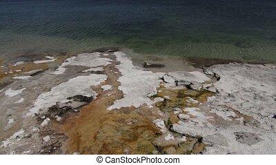 Yellowstone Lake, Yellowstone National Park, United States -...