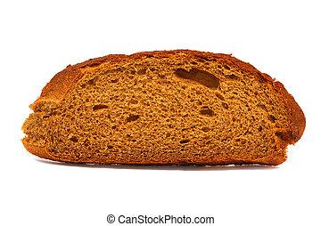 白, 隔離された, 背景,  bread