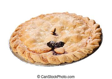 Cherry pie isolated