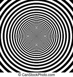 pattern of decreasing circles, the effect of the tunnel and...