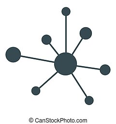 Hierarchy icon Network sign, circles related vector concept...