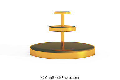 three tiers of round stand gold - three tiers of round stand...