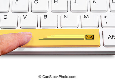Keyboard yellow express delivery package. - Computer...