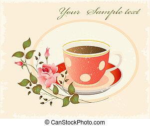 retro cup of coffe