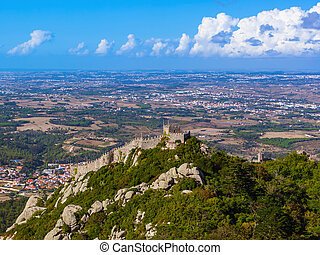 Moorish castle in Sintra - Portugal - architecture...