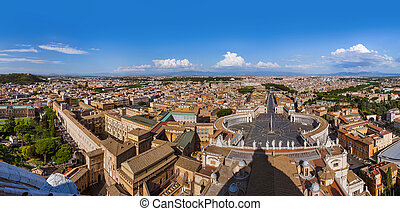 View from Sant Peters Basilica in Vatican - Rome Italy