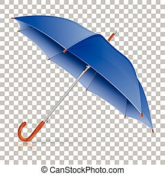 High Detailed Umbrella - High Detailed Blue Umbrella on...