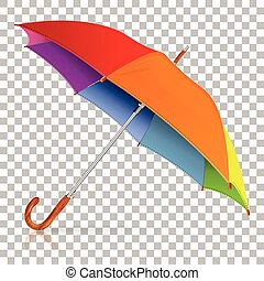 High Detailed Umbrella - High Detailed varicolored Umbrella...