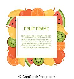 Square juicy fruit frame