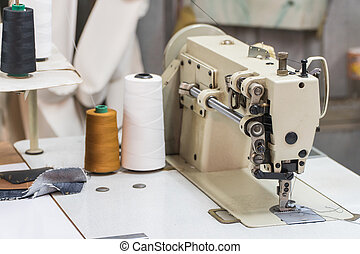 Abandoned textile factory - sewing machines