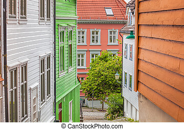 Wooden houses in Bergen. UNESCO World Heritage Site, Norway