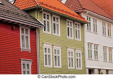 Wooden houses in Bergen. UNESCO World Heritage Site, Norway