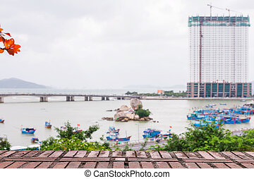 Vietnam. Nha Trang. Cham towers. View of the river Kai and...