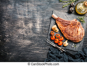 grilled tomahawk beef steak - Succulent grilled tomahawk...