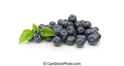blueberries isolated on white background close-up